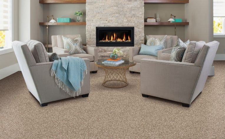 Living Room Carpet Flooring Rental Example